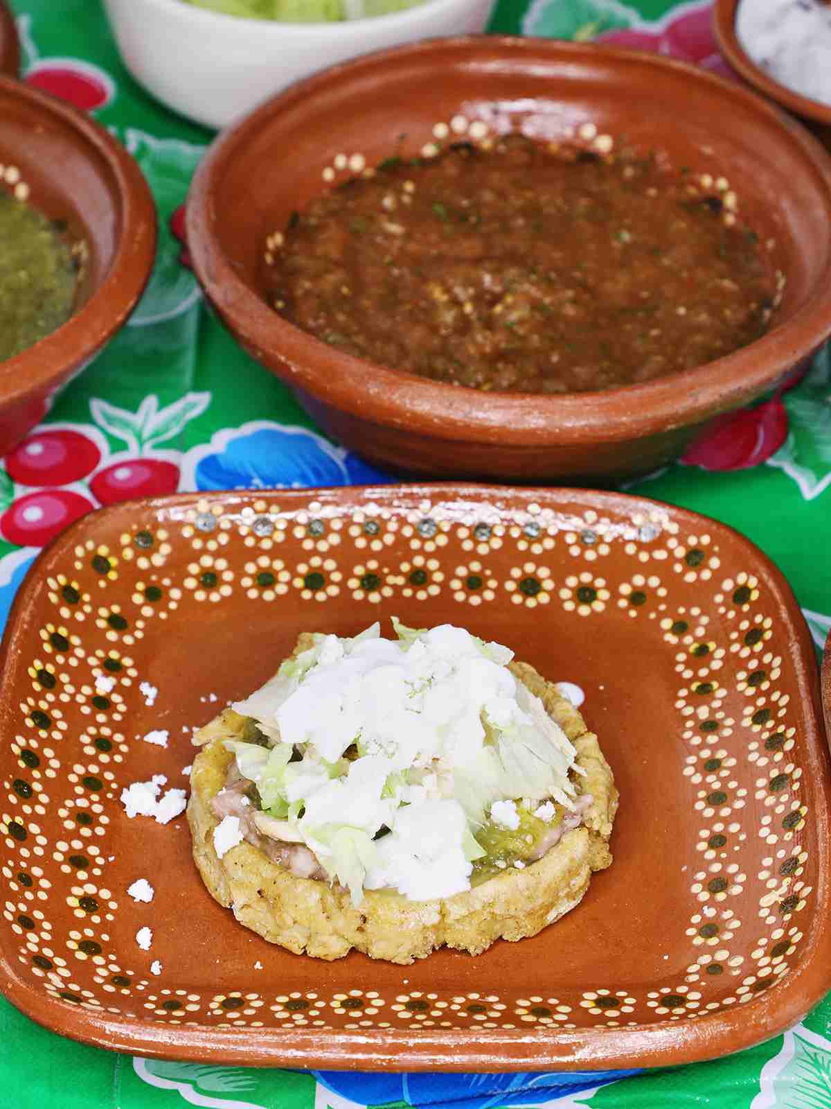 Chicken Sope with Green Salsa