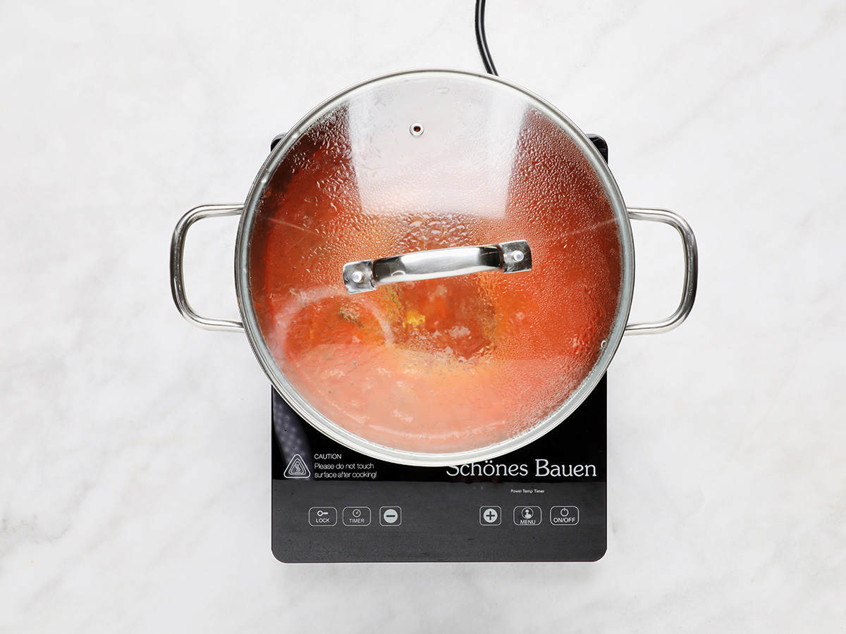 Cooking Caldo de Camarón