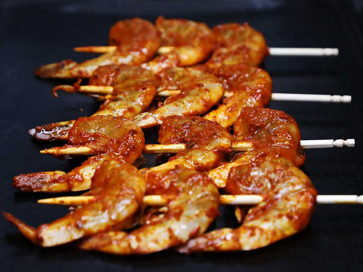 Cooking Mexican Shrimp