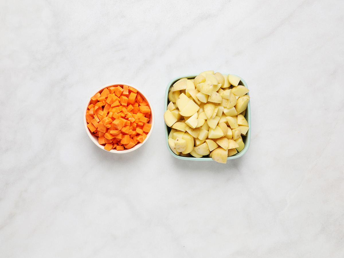 Diced Carrots and Cambray Potatoes