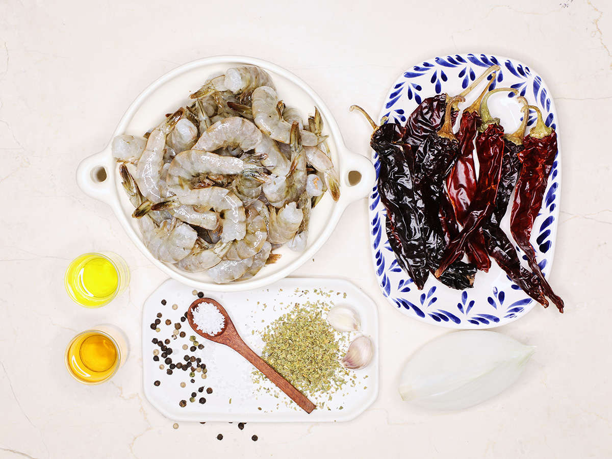 Ingredients to Make Mexican Grilled Shrimp
