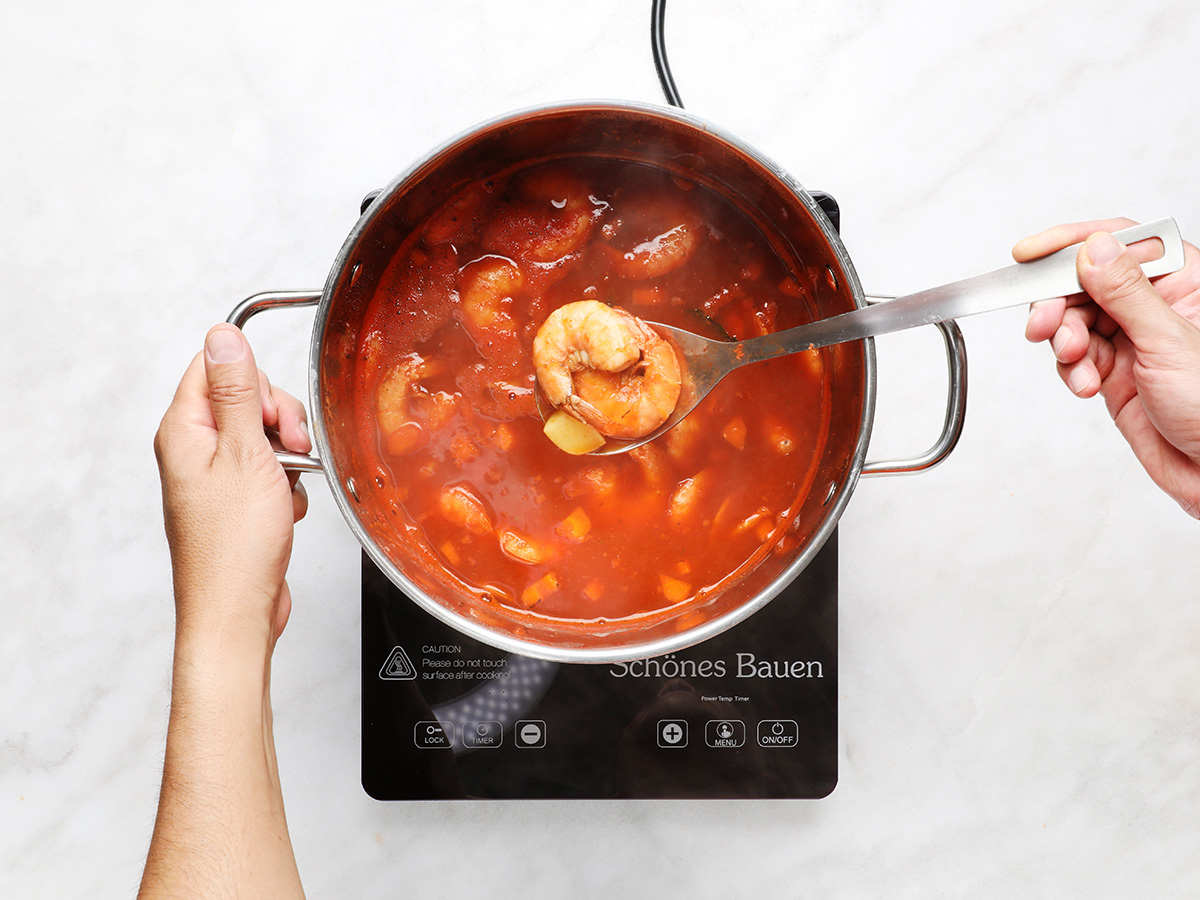 Mexican Shrimp Soup on Stovetop