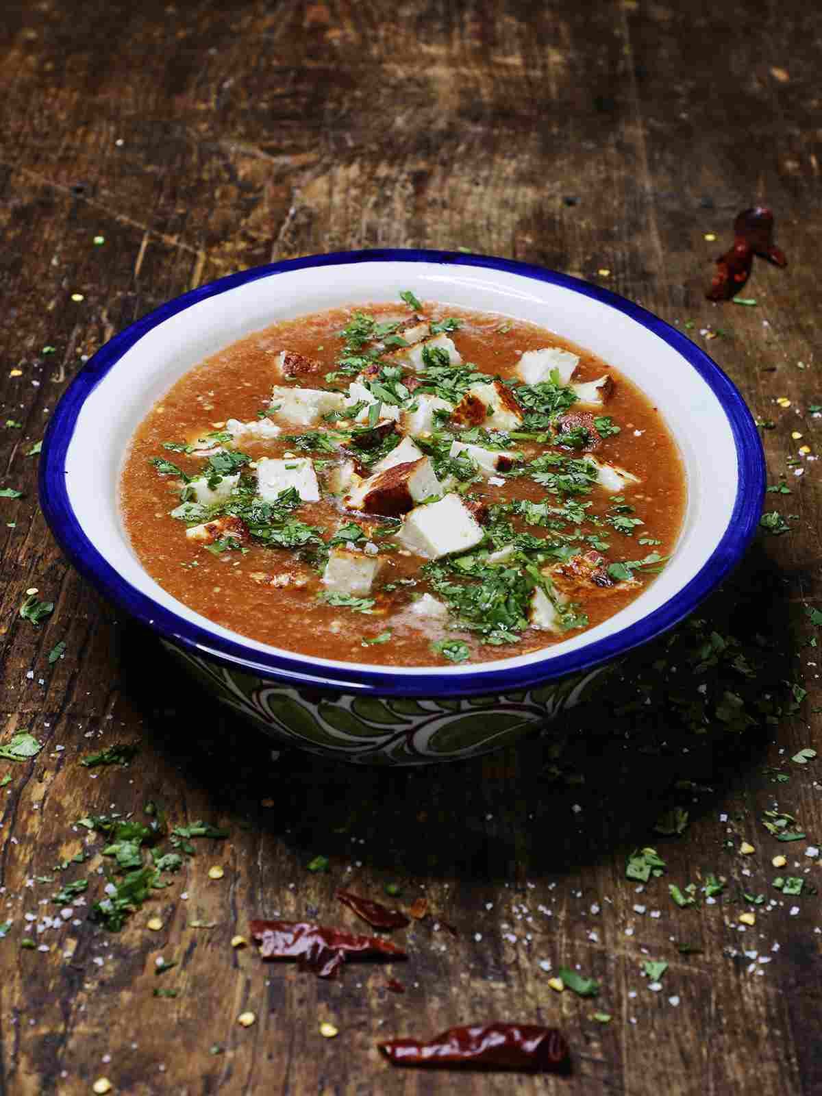 Red Salsa with Cotija Cheese