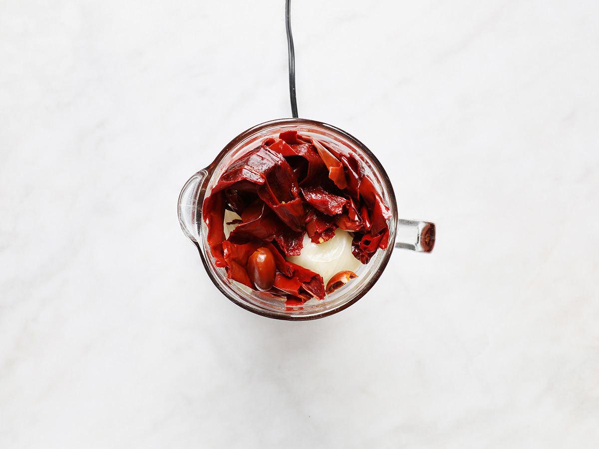 Shrimp Soup Ingredients in Blender