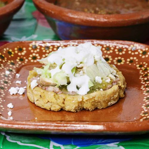 Sope de Pollo with Salsa Verde