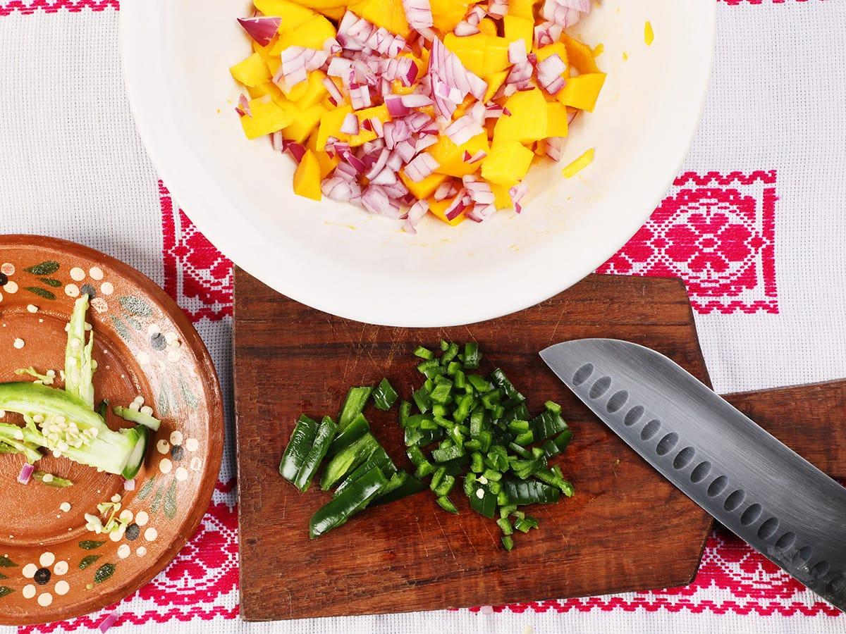 Chopped Jalapeños