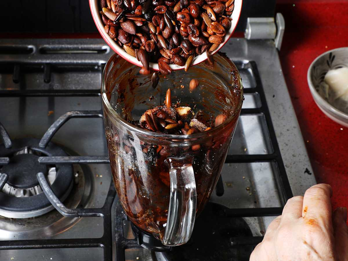 Blending Nuts for Mole Sauce