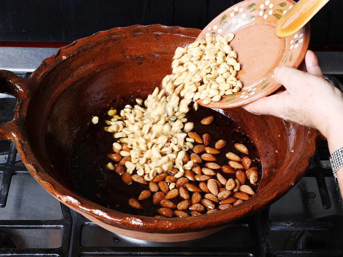 Adding Peanuts to Clay Pot
