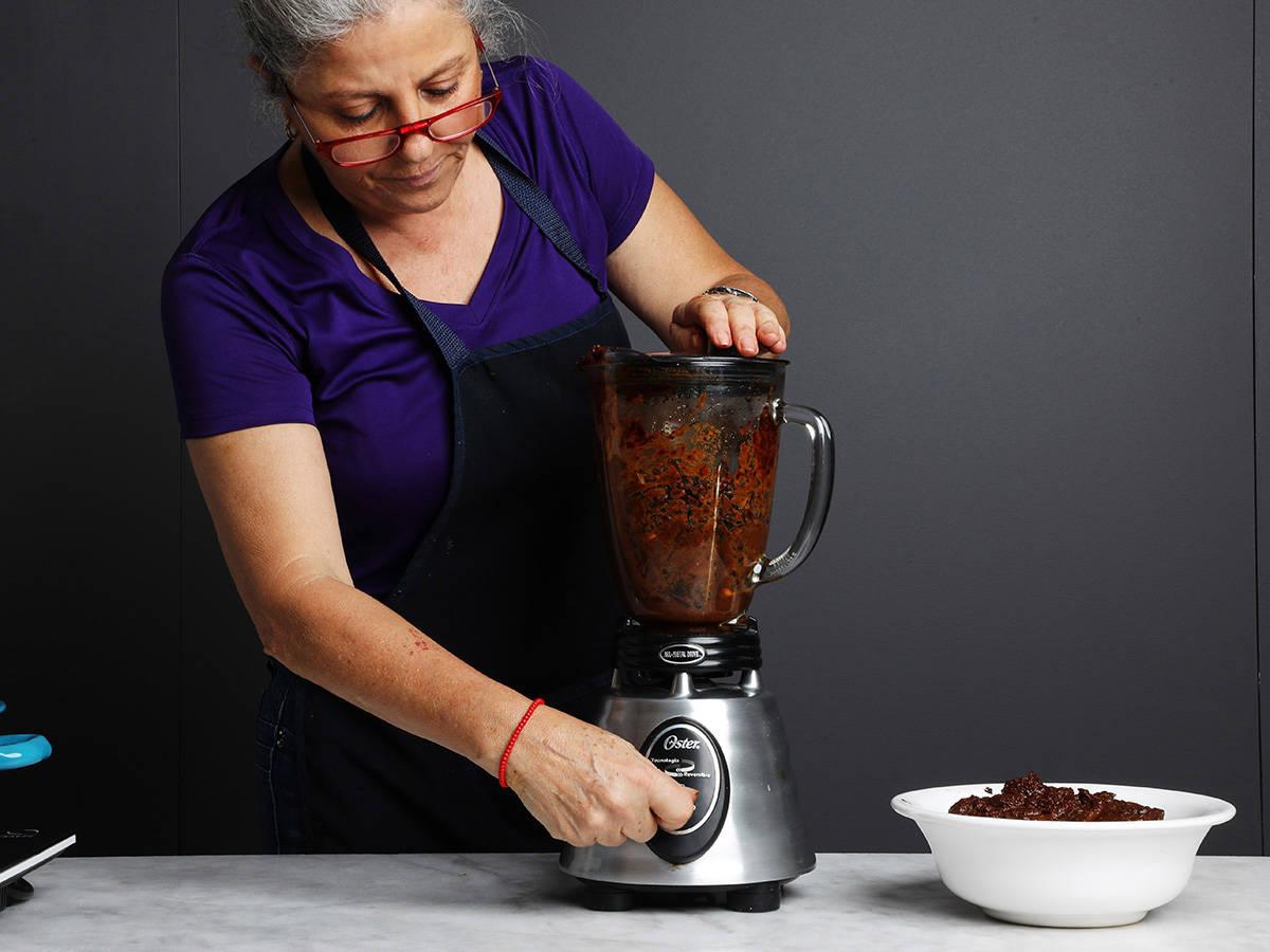 Blending Mole Sauce