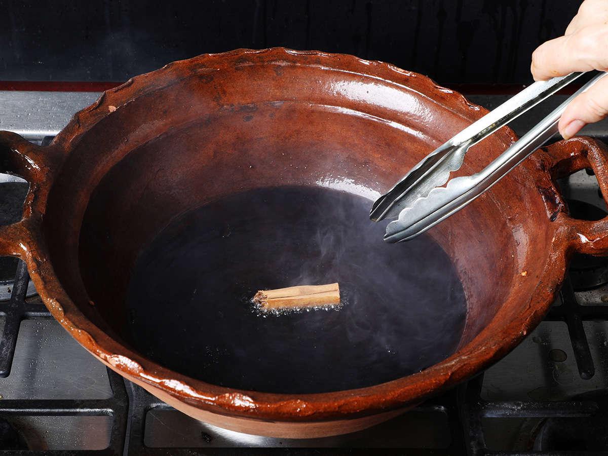 Frying Cinnamon Stick