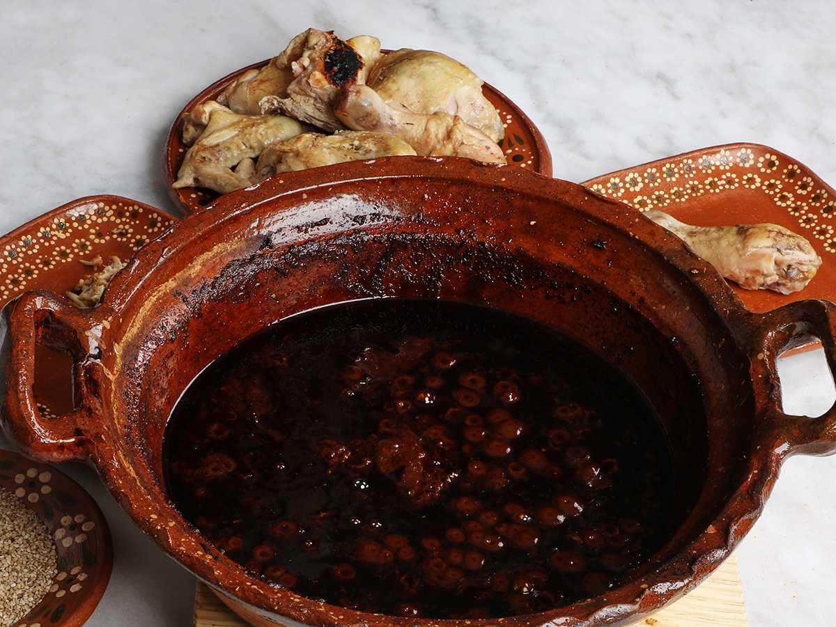 Mole Poblano in Clay Pot with Chicken