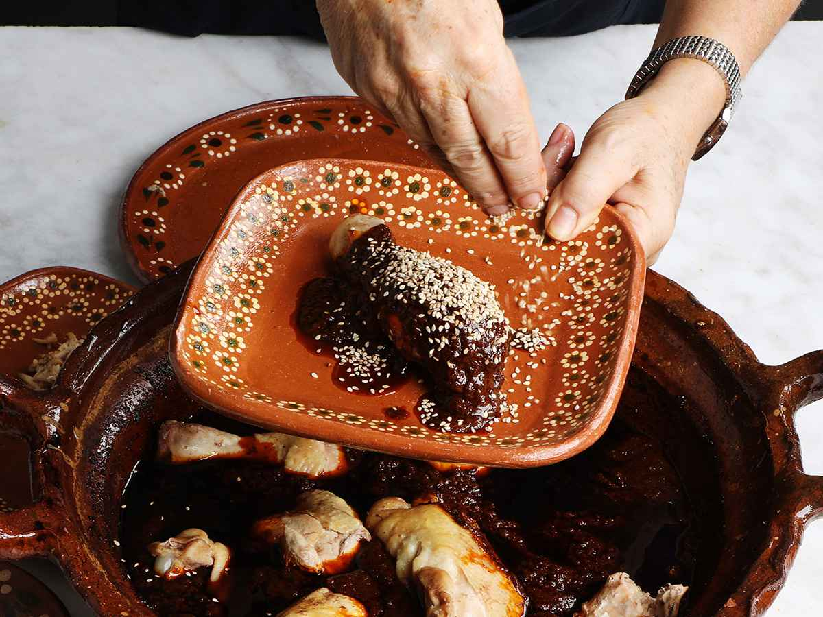 Mole Poblano with Chicken and Sesame