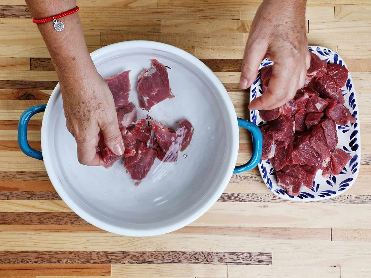 Preparing Beef for Salpicon