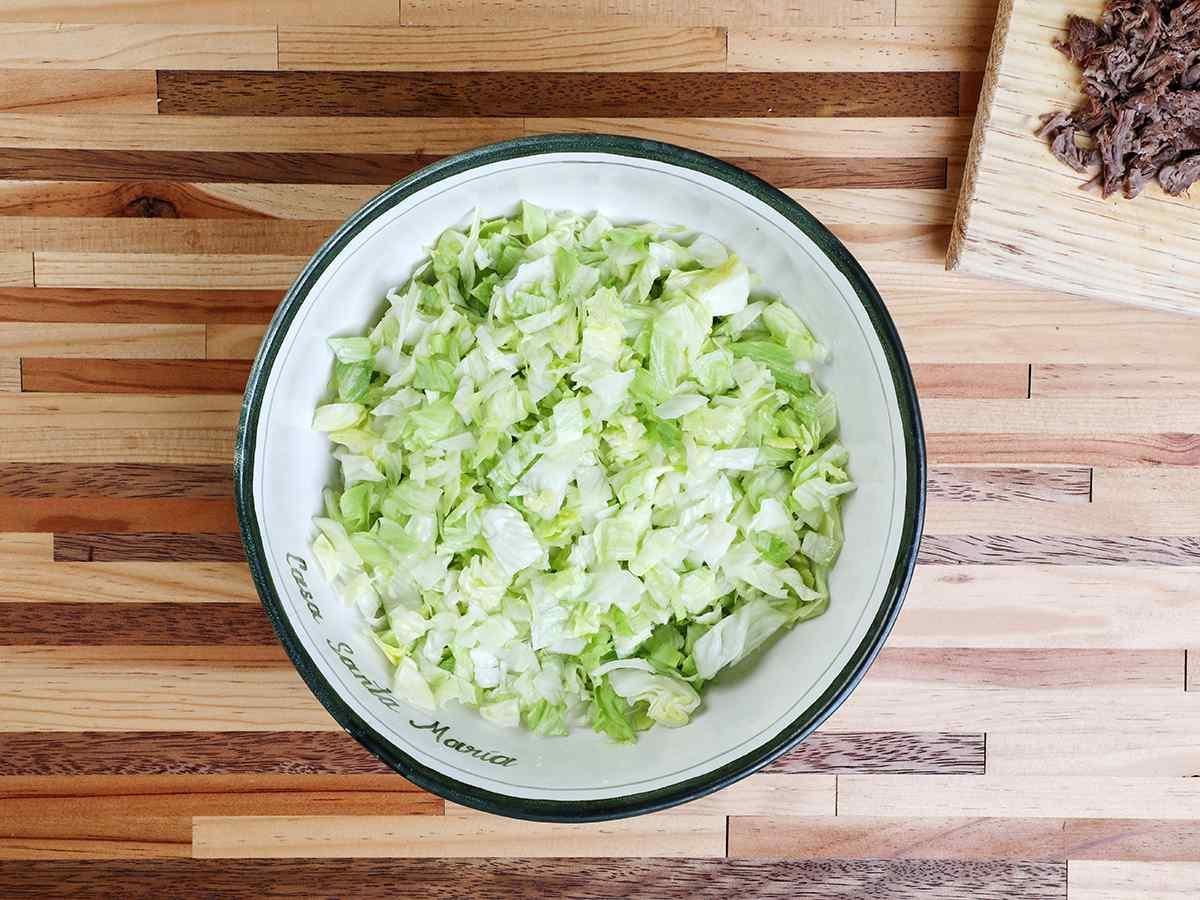 Bowl of Shredded Lettuce