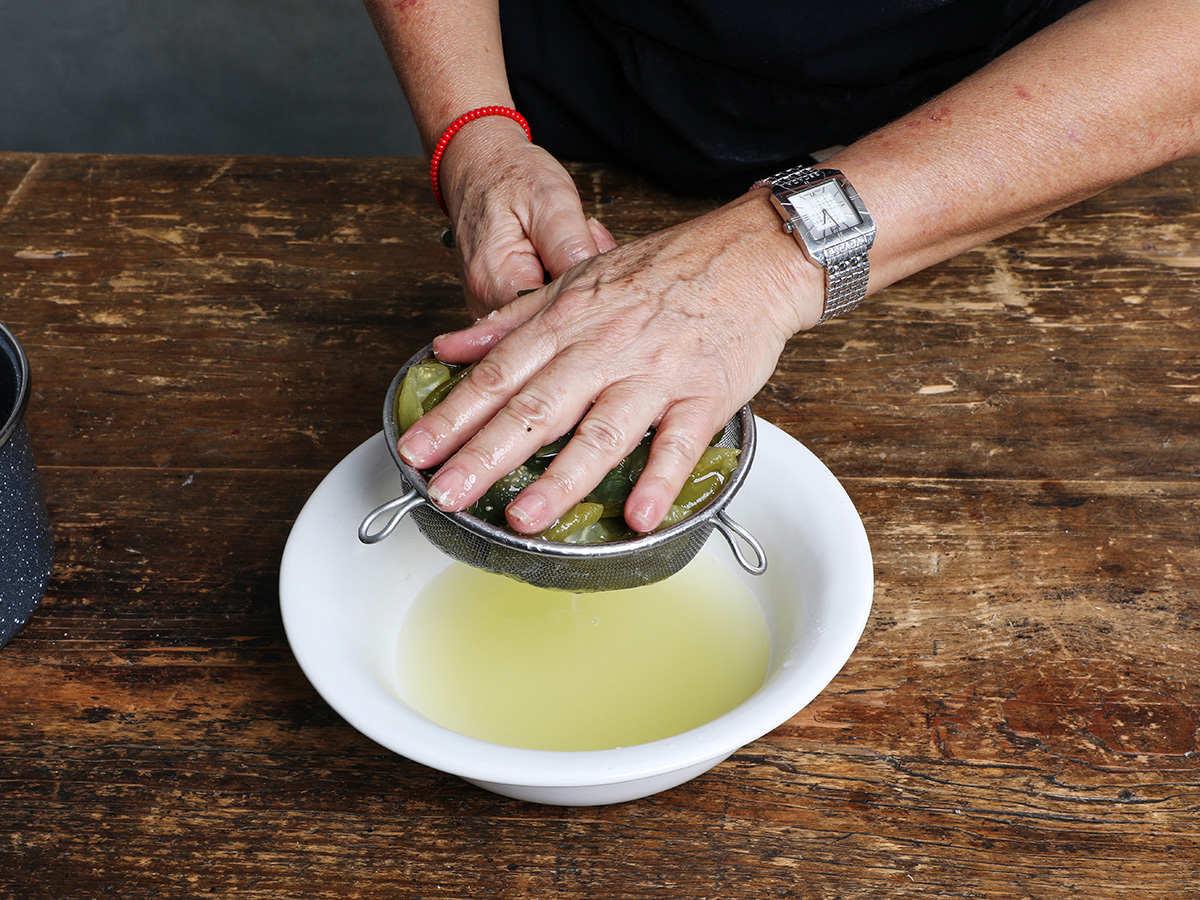 Draining Vegetable Broth