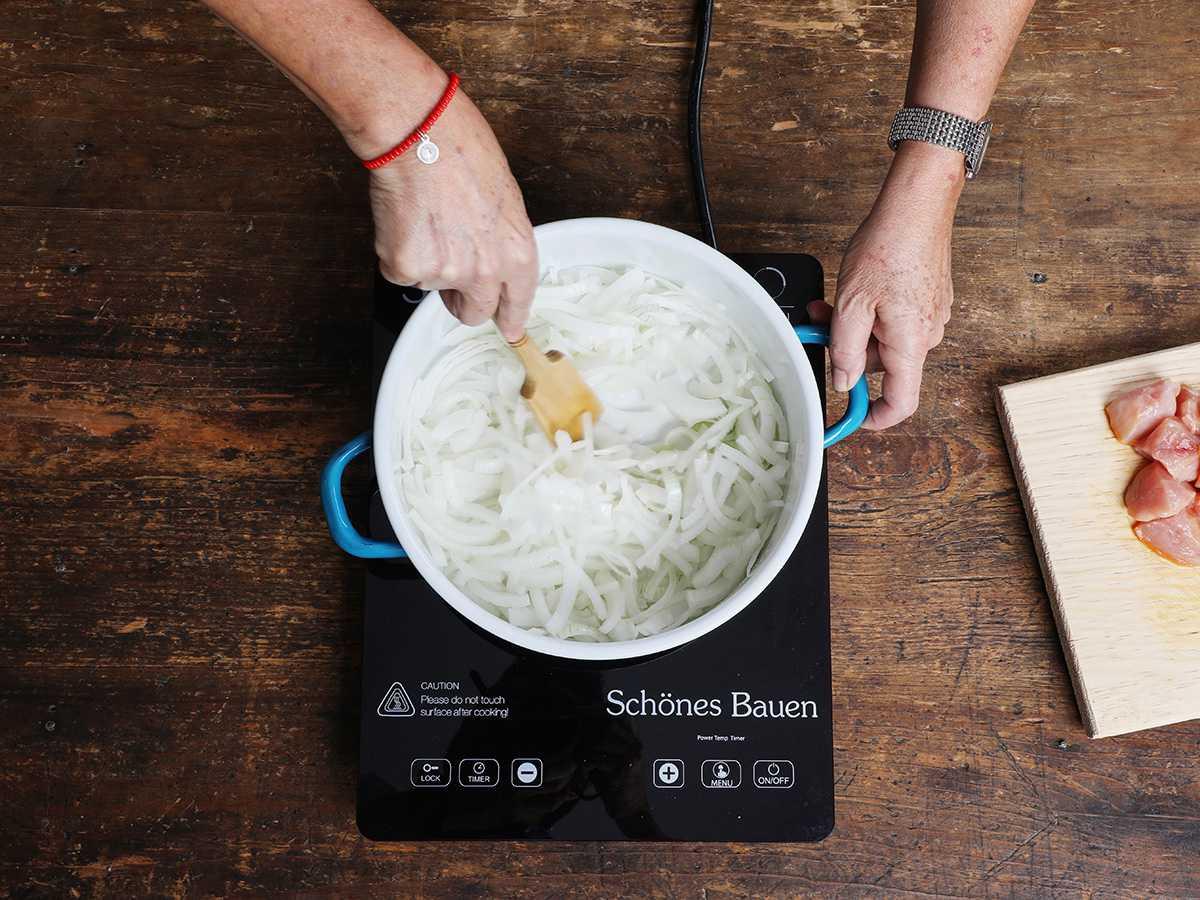 Stirring Onions