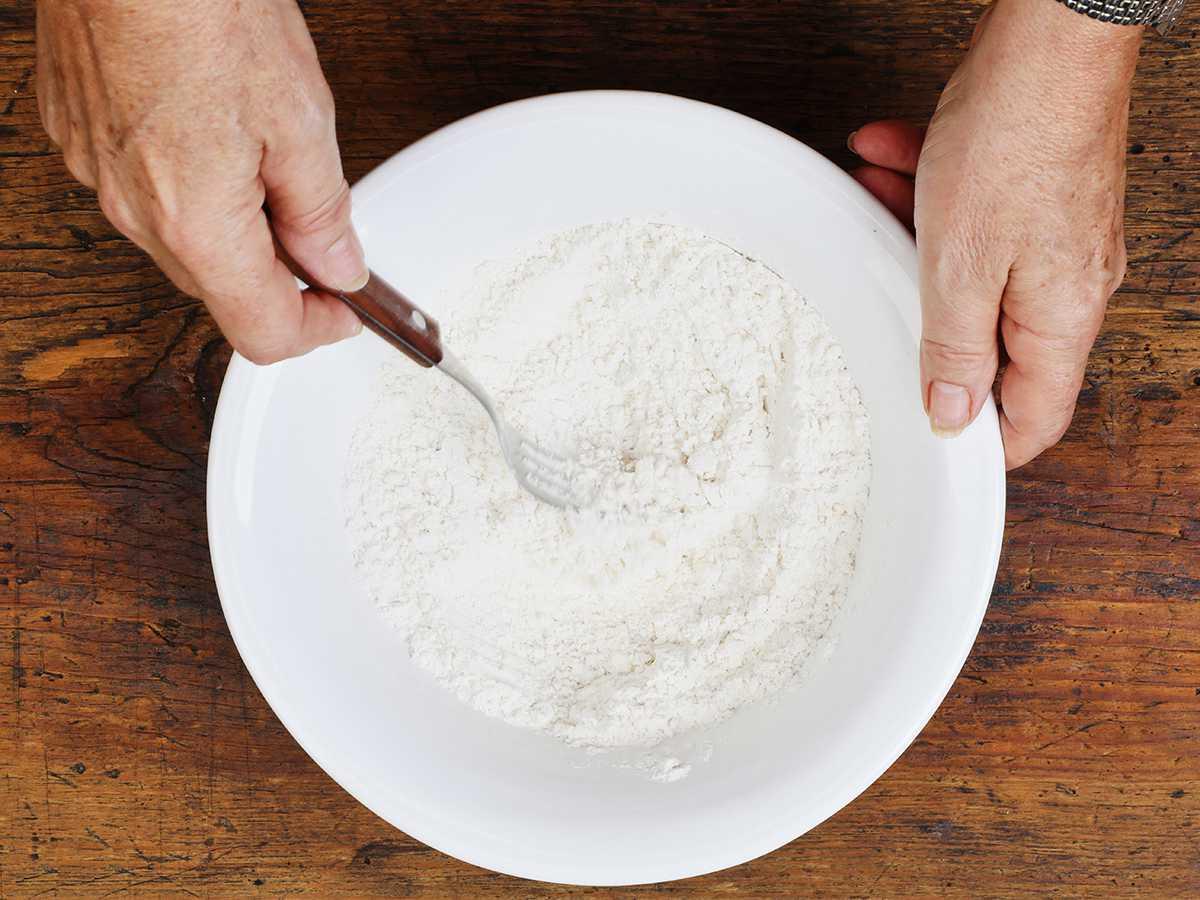 Mixing Buñuelo Dough