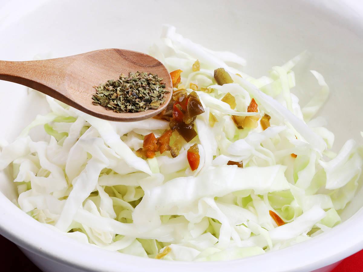Oregano and Cabbage Slaw